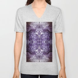 Reflected Amethyst Unisex V-Neck