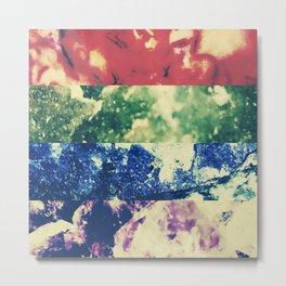 Crystalline Rainbow Metal Print