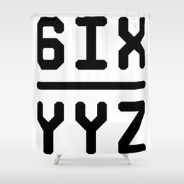 6IX YYZ Shower Curtain