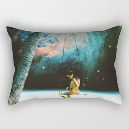 Hanging Out In Space Rectangular Pillow