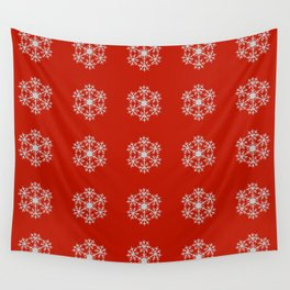 Snowflakes pattern Wall Tapestry