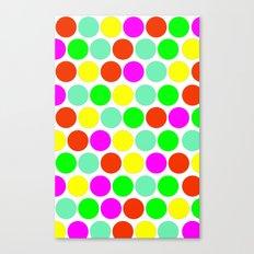 Polka dot, Colors set 2 Canvas Print