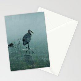 Blue Heron Misty Morning Stationery Cards