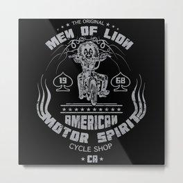 Men Of Lion Metal Print