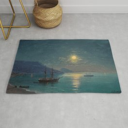 Evening in Crimea by Ivan Aivazovsky Rug