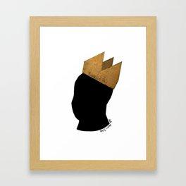 Crowned Head Tee (KNG) Framed Art Print