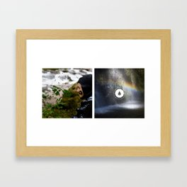 The Search Waterfall Diptych Framed Art Print