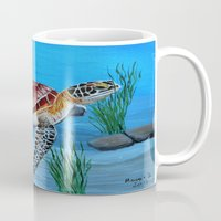 sea turtle Mugs featuring Sea turtle  by maggs326