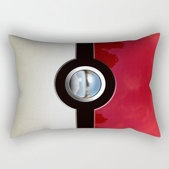Retro Chrome pokeball iPhone 4 4s 5 5c, ipod, ipad, pillow case tshirt and mugs Rectangular Pillow