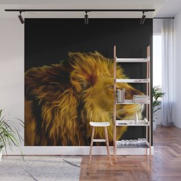 glowing lion  Wall Mural