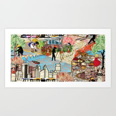 Urban Sightings Collage Art Print
