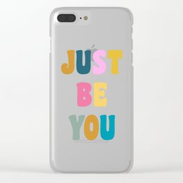 Colorful Just Be You Lettering Clear iPhone Case