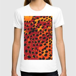 Cheetah Spots in Red, Orange and Yellow T-shirt