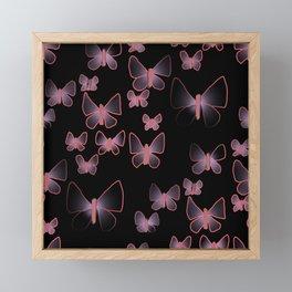 Butterflies doodling Framed Mini Art Print