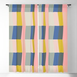 Shapes and Color Pattern 102 Blackout Curtain