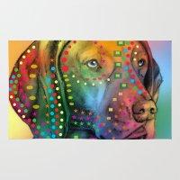 dog Area & Throw Rugs featuring dog by mark ashkenazi