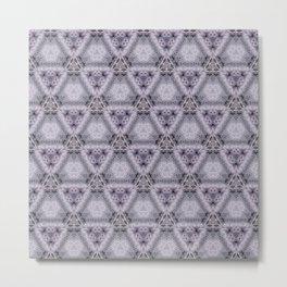 Pale Purple Pyramids Metal Print