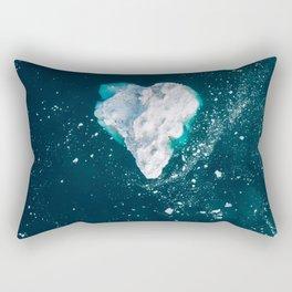 Heart of Winter - Aerial view of Icebergs in the arctic Ocean Rectangular Pillow