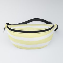 Sunny Yellow Handdrawn horizontal Beach Stripes - Mix and Match with Simplicity of Life  Fanny Pack