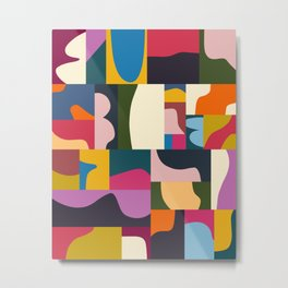 Modern Collage - Minimalism Collage - Color theory collage  Metal Print