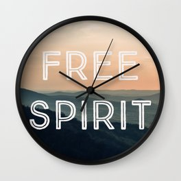 Free Spirit (Mountains) Wall Clock