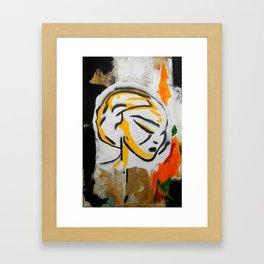 Post - Abstract portraits - Original painting - Marina Taliera Framed Art Print