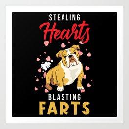 English Bulldog Bulldog Gift Art Print