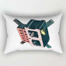 Brick Crossbones and a Bird Rectangular Pillow