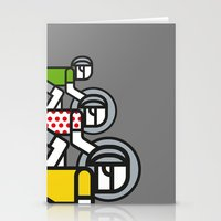 tour de france Stationery Cards featuring Peloton Tour De France by sonsofwolves