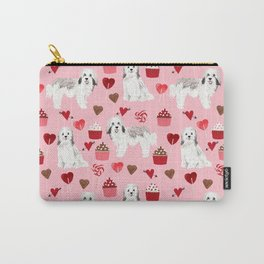 Havanese valentines day cupcakes love hearts dog breed gifts for dog lover pure breed must haves Carry-All Pouch
