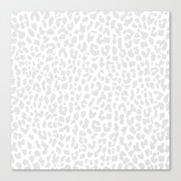 Pale Gray Leopard Canvas Print