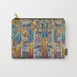Colourful Autumn Aspen Trees Carry-All Pouch