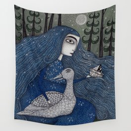 The White Duck Wall Tapestry