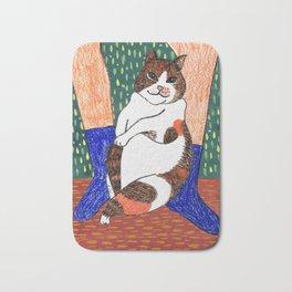 Artist's cat Bath Mat