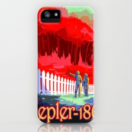 Vintage poster - Kepler-186f iPhone Case
