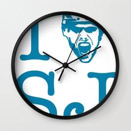 San Jose Shark's Teal I >0 SJ Wall Clock