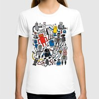 robots T-shirts featuring ROBOTS! by Chris Piascik