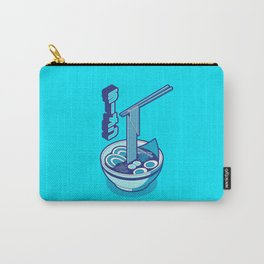 Japanese Ramen Isometric Minimal - Solid Cyan Carry-All Pouch