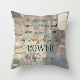 The power of books - Book Quote Collection Throw Pillow