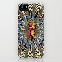 Kissing Carrots  iPhone Case