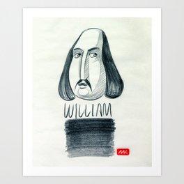 William (drawing) Art Print