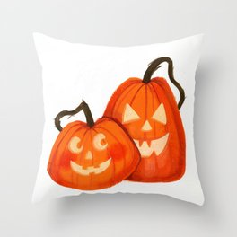 Jack O Lanterns Throw Pillow