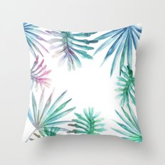 Watercolor botanical leaves Throw Pillow