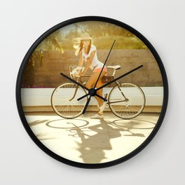 Velo girl Wall Clock