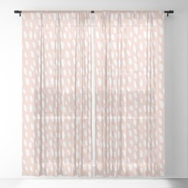 Blush Strokes Sheer Curtain