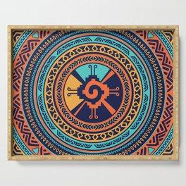 Colorful Hunab Ku Mayan symbol Serving Tray