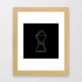 Chemex pictogram Framed Art Print