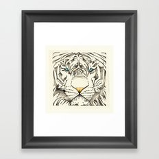 The White Tiger Framed Art Print