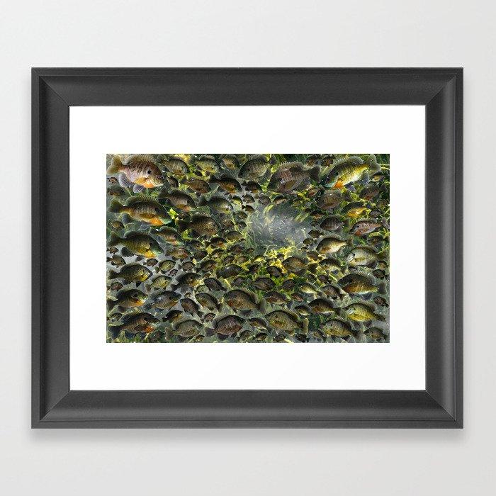 Bluegill Hole Gerahmter Kunstdruck