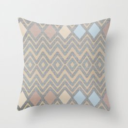 Woven Geometry - Fabric ZigZag Pattern Pastel Throw Pillow